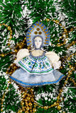 El juguete Nieve-virginal del Año Nuevo Imagenes de archivo