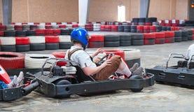 El karting de interior Imagen de archivo libre de regalías