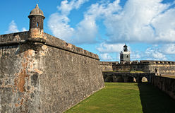 El Kasztel Morro, San Juan, Puerto Rico Fotografia Royalty Free