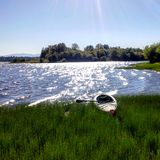 El Kayaking en el lago vancouver Fotos de archivo