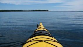 El Kayaking en Maine Foto de archivo
