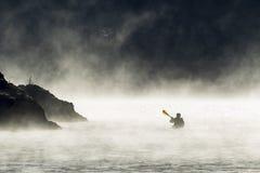 El Kayaking a principios de diciembre imágenes de archivo libres de regalías