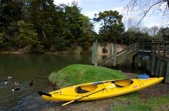 El Kayaking - reconstrucción y deporte Foto de archivo