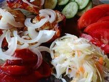 El kebab con un complejo adorna imagen de archivo libre de regalías