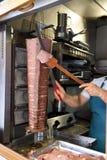 El kebap de Donner, cocina da el donner del corte fotografía de archivo libre de regalías