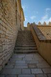 EL Kef& x27; mittelalterliche Festungstreppe: Kasbah stockfoto