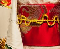 El kimono es una ropa japonesa tradicional Fotos de archivo libres de regalías