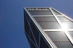 El Kio se eleva, el ` moderno s de Madrid la mayoría de la señal famosa foto de archivo