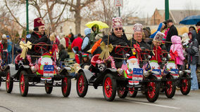 El Korah Shriners going through a parade Stock Photo