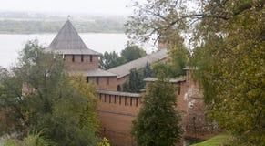 El Kremlin en Nizhny Novgorod, Federación Rusa fotografía de archivo