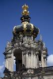 El Kronentor en el palacio de Zwinger en Dresden Foto de archivo libre de regalías