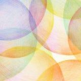El lápiz abstracto del color garabatea el fondo Fotografía de archivo