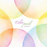 El lápiz abstracto del color garabatea el fondo Foto de archivo libre de regalías
