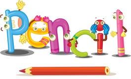 El lápiz de la palabra Imagen de archivo libre de regalías