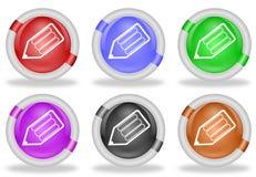 El lápiz escribe los botones del icono del web Imagen de archivo libre de regalías