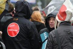 El líder de oposición de las etiquetas engomadas Navalny en partidos desconocidos hace campaña reunión Foto de archivo