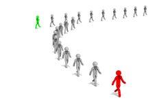 El líder empresarial camina para progresar Fotografía de archivo libre de regalías
