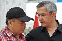 Reunión roja de la camisa en Bangkok Imagenes de archivo