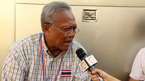 El líder tailandés de la protesta  Imagen de archivo