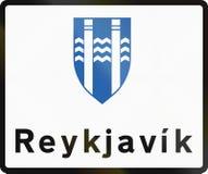 El límite de Reykjavik firma adentro Islandia ilustración del vector
