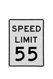 el límite de velocidad 55 mph aisló imagen de archivo libre de regalías
