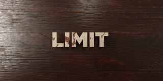 El límite - título de madera sucio en arce - 3D rindió imagen común libre de los derechos libre illustration