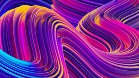 El líquido olográfico brillante forma el fondo del extracto 3D Fotografía de archivo libre de regalías