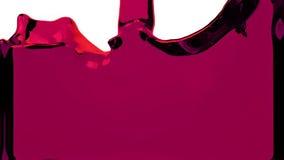 El líquido púrpura llena la pantalla, del canal alfa HD LLENO stock de ilustración