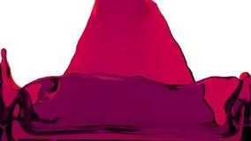 El líquido púrpura llena la pantalla, del canal alfa HD LLENO ilustración del vector
