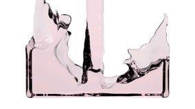 El líquido rojo de la transparencia llena la pantalla, del canal alfa HD LLENO libre illustration