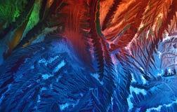 El líquido sale del fondo abstracto Foto de archivo