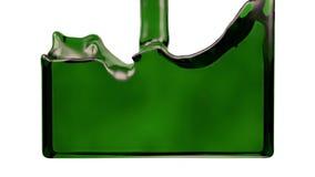 El líquido verde de la transparencia llena la pantalla, del canal alfa HD LLENO stock de ilustración