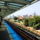 El L en Chicago Fotografía de archivo libre de regalías