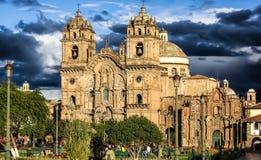 El La Compania de la iglesia en Cusco, el PE Imagenes de archivo