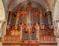 El la de los dans del Saint Nazaire de Basilique del La cita de Carcasona - Aude y x28; France& x29; foto de archivo