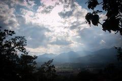 El la luz y nublado Foto de archivo libre de regalías