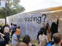 El LA mide el tiempo del festival de los libros 11 Imagen de archivo