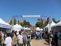 El LA mide el tiempo del festival de los libros 3 Foto de archivo libre de regalías