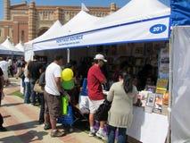 El LA mide el tiempo del festival de los libros 4 Fotos de archivo