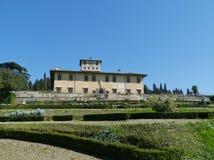 Palacio en Castello en Italia fotografía de archivo