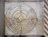 El laberinto digital de las catedrales Toscana Italia de Lucca imagen de archivo