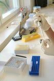 El laboratorio biológico foto de archivo