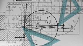 El laboratorio de la matemáticas de la escuela de la ciencia aprende stock de ilustración