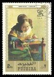 El Lacemaker de Jan Vermeer imagen de archivo