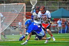 El lacrosse golpea abajo Fotografía de archivo