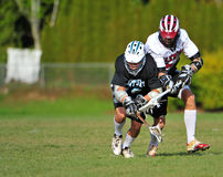 El lacrosse hace frente apagado Imágenes de archivo libres de regalías