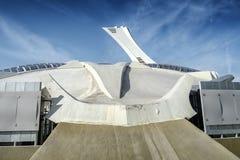 El lado del estadio Olímpico Montreal Foto de archivo libre de regalías