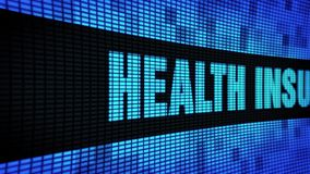 El lado del seguro médico manda un SMS a enrollar el tablero de la muestra de la pantalla de la pared del LED almacen de video
