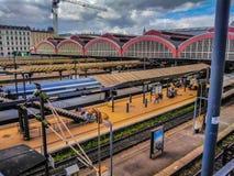 El lado moderno de la estación de la central de Copenhague Foto de archivo