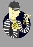 El ladrón con una llave Imagen de archivo